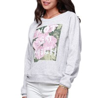 Young Romantics Not So Much Crew Fleece - Womens Hoodie - Grey
