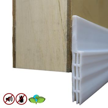Evelots Door Sweep Cold Draft, Dust,Insect,Sound Protector-Self Adhesive-39""