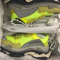 BALENCIAGA TRIPLE S NEON YELLOW EU40