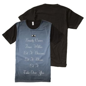 Beauty Quote by Kat Worth Men's All-Over-Print T-Shirt