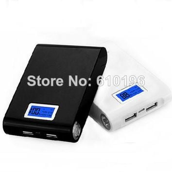 Black Dual USB 5V 2A Mobile Power Bank Four 18650 Battery Charger Box Module For Phone DIY Kit