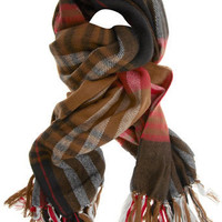 Red check heavyweight scarf - View All New In - What's New - Dorothy Perkins