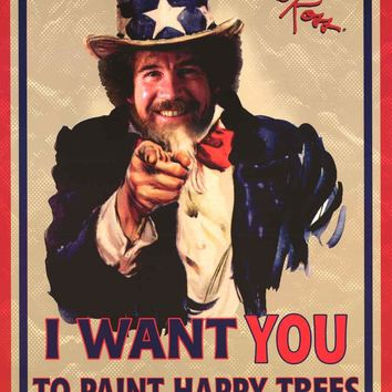Bob Ross Uncle Sam Poster 24x36