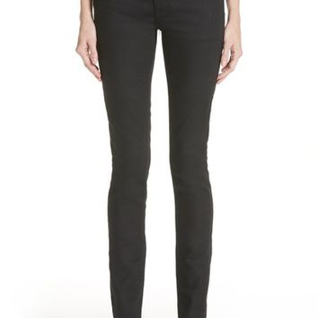 Saint Laurent Coated Skinny Jeans (Used Black) | Nordstrom