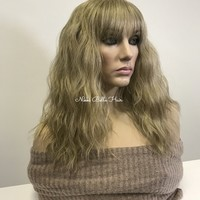 "Blond beach waves full wig 14"" 11843 ON SALE"
