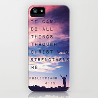 Philippians 4:13 in Nature iPhone Case by Caleb Troy