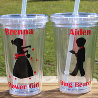 Flower girl gift,  ring bearer gift,  flower girl tumbler,  Ring Bearer tumbler,  Personalized Flower girl gift,  Mini Bride Qty 1