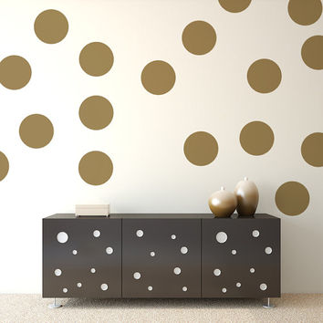 Polka Dot Decals, Polka Dot Wall Decal, Party Decorations, Vinyl Polka Dots, Nursery Decor, Nursery Wall Decal, Apartment Decor, Dorm Decor