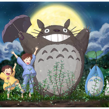 My Neighbor Totoro Moon Dance Poster 11x17