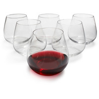 Sur La Table® Outdoor Stemless Wine Glasses, Set of 6 | Sur La Table