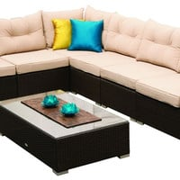 Trade Assurance Rattan Furniture Living Room Sofa The Mateus 7 pc Modular Lounge Setting