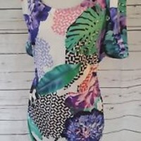 Juniors bodycon floral Dress Isla Anthropologie Size Large L NWT New