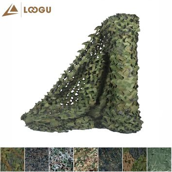 LOOGU E 5M*1.5M Military Camouflage Netting Car Tent Woodland Camo Nets Without Edge Binding And Mesh For Hunting Camping