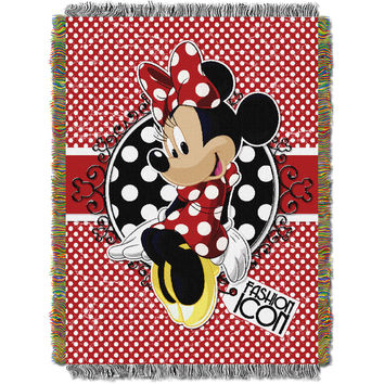Minnie Bowtique-Forever Minnie 051 Entertainment 48x60 Tapestry Throw