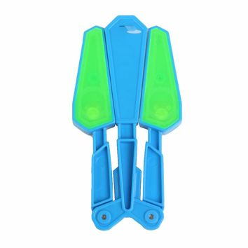 Children Butterfly Knife Flipper Flip Toys with LED 100 Tricks Master Light Up Finz Toy Endless Addictive Fun Twirl It