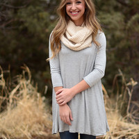 Complete Me Tunic - Heather Grey