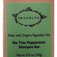 Sagebleu Organic Tea Tree Peppermint Shampoo Bar