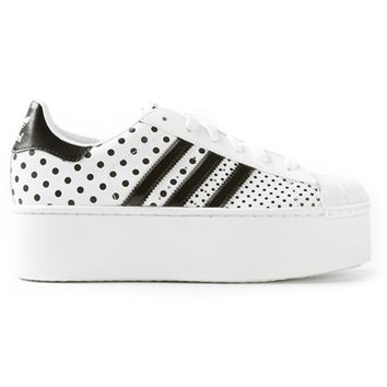 "Adidas Originals ""Superstar 2 Platform Up Ef"" Polka Dots Sneakers"