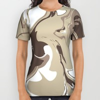 Mocha All Over Print Shirt by KJ Designs