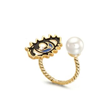 2016 fashion Eye pearl opening ring ,  a perfect gift !