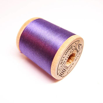 Brand New-Vintage Belding Corticelli Silk Thread Spool-Vintage Purple Belding Silk Sewing Thread-Vintage Wooden Silk Thread Spool-Shade 8953