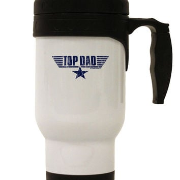Top Dad Father's Day Stainless Steel 14oz Travel Mug