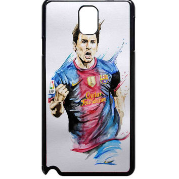 colorful messi watercolour For Samsung Galaxy Note 3 Case ***
