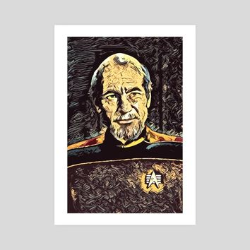 "A Tribute to ""Admiral"" Picard, an art print by Dusan Naumovski"
