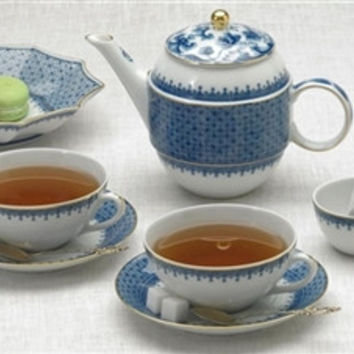 Mottahedeh Blue Lace Tea for Two
