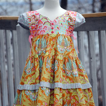 Girl's Dress Jumper Dress Children by HarmonyGirlsClothing on Etsy