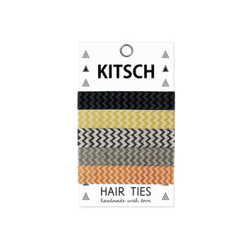 KITSCH - Metallic Chevron Hair Ties