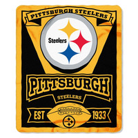 Pittsburgh Steelers NFL Light Weight Fleece Blanket (Marque Series) (50inx60in)