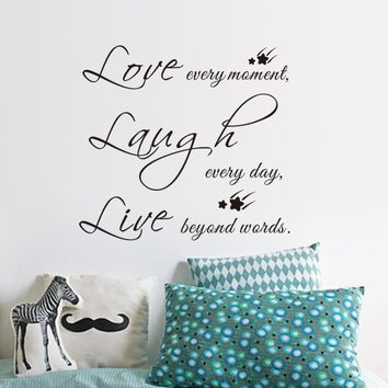 Live Love Laugh Quotes Interesting Shop Live Laugh Love Wall Quotes On Wanelo
