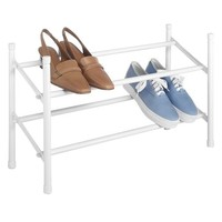 Whitmor Expandable/Stacking Shoe Rack White