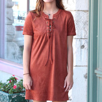 Suede + Lace Up's Forever Dress {Cinnamon}