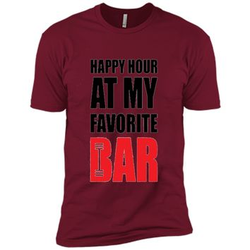Happy Hour at my Bar Gym Workout Fitness Motivational Shirt