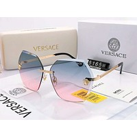 Versace 2019 new personality frameless gradient polarized sunglasses #5