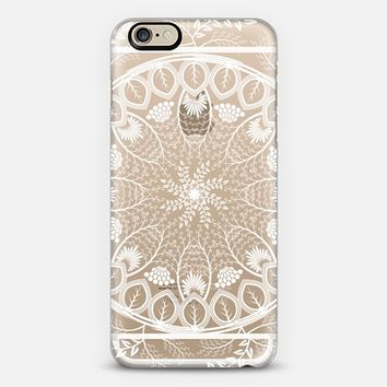 Pearls floral leaves lace mandala iPhone 6 case by Famenxt | Casetify