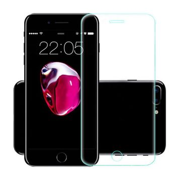 2018 New Tempered Glass For iPhone 7 Plus Screen Protector TPU Gel Skin Case Cover
