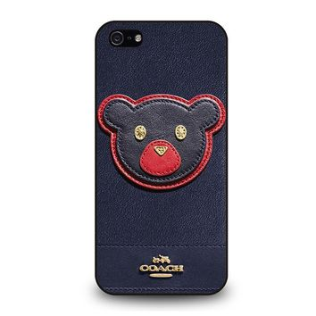 COACH NEW YORK BEAR iPhone 5 / 5S / SE Case Cover
