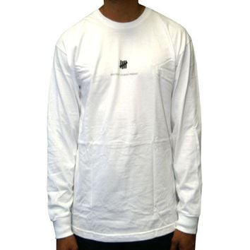 ONETOW Undefeated Officially Licensed Product  Long Sleeve Tee In White