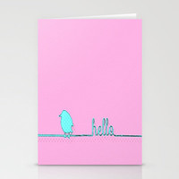 Hello Stationery Cards by Ally Coxon | Society6