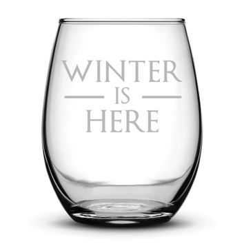 Premium Game of Thrones Wine Glass, Winter is Here