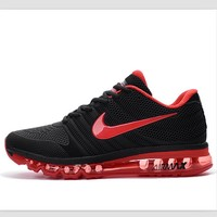NIKE trend of plastic bottom casual shoes breathable running shoes Black and red