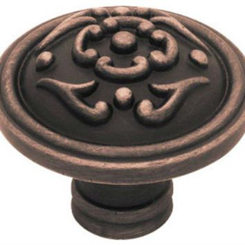 "Liberty Hardware PN1510-VBR-C French Lace Knob, 1.5"", Bronze with Copper"