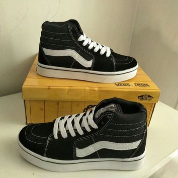 """VANS"" Unisex Classic Stripe Casual Couple Sneakers High Help Plate Shoes"