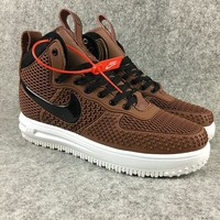 2018 How To Buy 2017 Nike Lunar Force 1 Duckboots High Men Sneakers Brown Black shoes