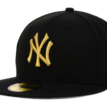 New York Yankees MLB Basic Gold 59FIFTY Cap