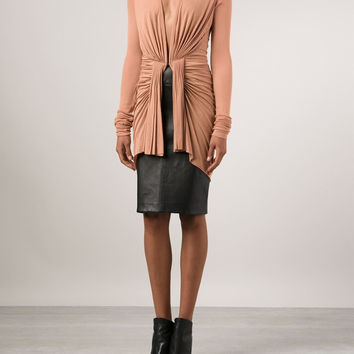 Rick Owens Lilies | Ruched Fitted Jacket