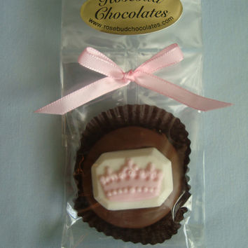 12 Milk Chocolate Princess Tiara Cookie Favors Queen Crown Birthday Party Candy